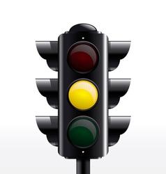 Traffic light yellow vector