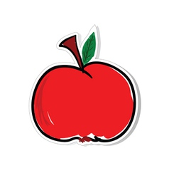 Apple for sticker vector