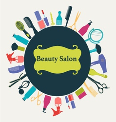 Hair beauty salon background- vector