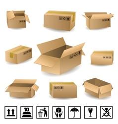 Shipping boxes set vector
