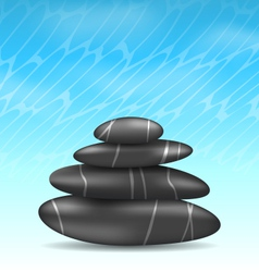 Nature background with pyramid zen spa stones vector