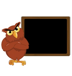 Owl and a blackboard vector
