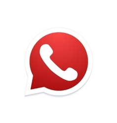 Modern phone icon in bubble speech vector