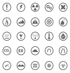 Warning sign icons on white background vector