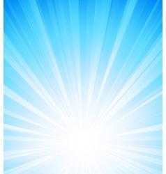 Blue summer sun light burst vector