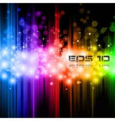 Magic rainbow lights vector