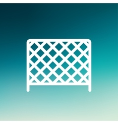Ice hockey goal net thin line icon vector