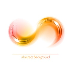 Abstract shape smoke double white red orange vector