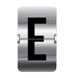 Alphabet silver flipboard letters e vector