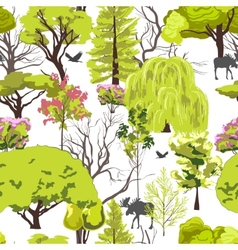 Forest tree sketch seamless vector