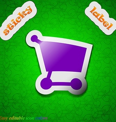 Shopping basket icon sign symbol chic colored vector