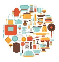 Background with kitchen and restaurant utensils vector