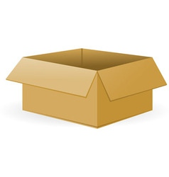 Open cardboard package vector