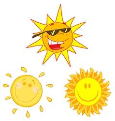 Cartoon suns vector