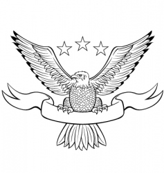 Bald eagle black vector
