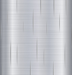 Brushed metal with scratches vector