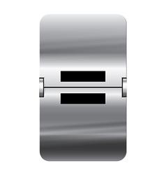 Alphabet silver flipboard letters equal vector