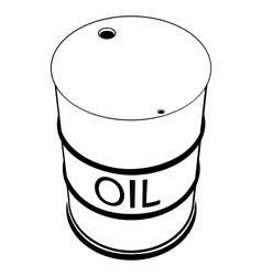 A barrel of oil vector