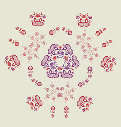 Beautiful intricate abstract floral pattern vector