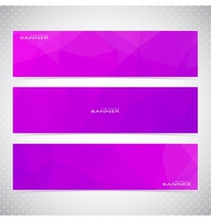 Horizontal set of banners with violet background vector
