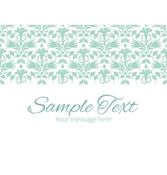 Abstract green ikat horizontal border vector