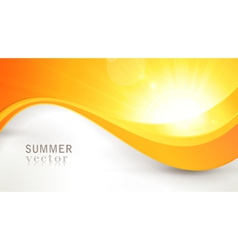 Summer sun with wavy pattern and lens flare vector