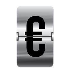 Alphabet silver flipboard letters euro vector
