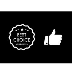 Best choice icons vector