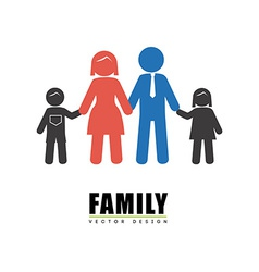 Family design over white background vector