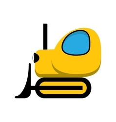 Yellow toy tractor icon vector