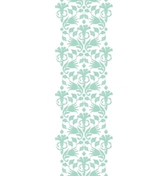 Abstract green ikat vertical border vector