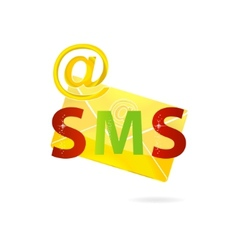 Clear gold mail icon message isolated vector