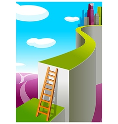 Path toward the city vector