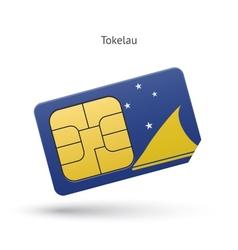 Tokelau mobile phone sim card with flag vector