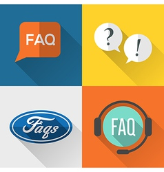 Faq icons vector