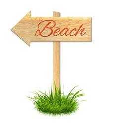 Beach wooden board vector