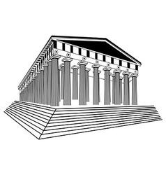Greece parthenon sketch vector