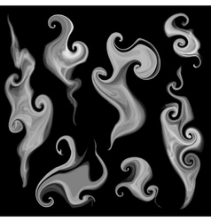 Smoke set vector
