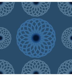 Seamless pattern blue floral design and background vector