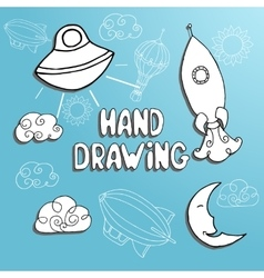 Kid drawing set vector
