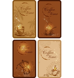 Coffee cards vector
