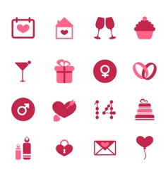 Modern flat icons for valentines day design vector