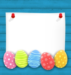 Celebration empty paper card with easter vector