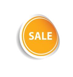 Sale sticker color vector