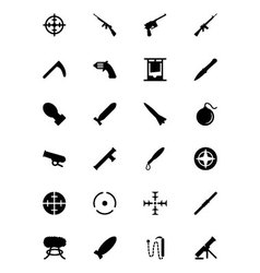 Weapons icons 2 vector