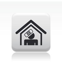 Accident domestic icon vector