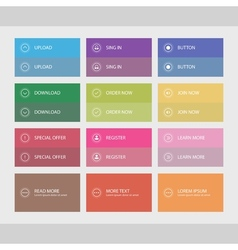 Flat user interface buttons vector