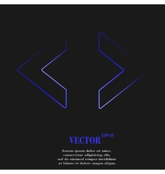 Code icon symbol flat modern web design with long vector