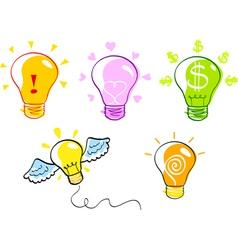 Ideas  bulb icon set vector