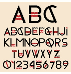 Font and numbers vector